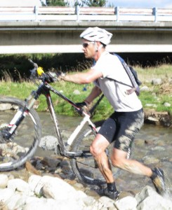 River crossing - Mt Somers Bike Race